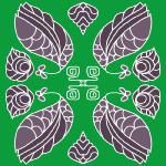 Jade, Art Deco collection of patterns (copyright © Paula Ogier 2012)